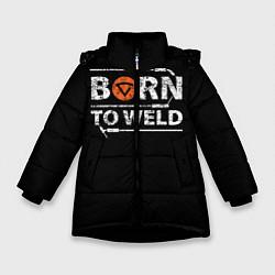 Куртка зимняя для девочки Рожден для сварки цвета 3D-черный — фото 1