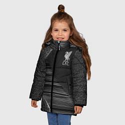 Куртка зимняя для девочки Liverpool F C цвета 3D-черный — фото 2