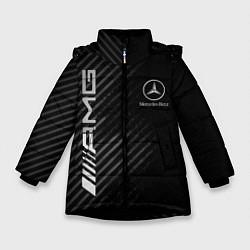 Куртка зимняя для девочки MERCEDES цвета 3D-черный — фото 1