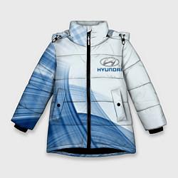 Куртка зимняя для девочки HYUNDAI цвета 3D-черный — фото 1