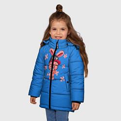 Куртка зимняя для девочки Милый Заяц цвета 3D-черный — фото 2
