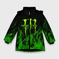 Куртка зимняя для девочки MONSTER ENERGY цвета 3D-черный — фото 1