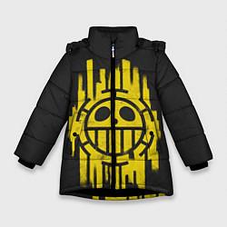 Куртка зимняя для девочки Skull One Piece цвета 3D-черный — фото 1