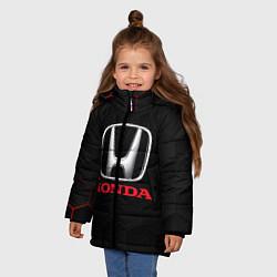 Куртка зимняя для девочки HONDA цвета 3D-черный — фото 2