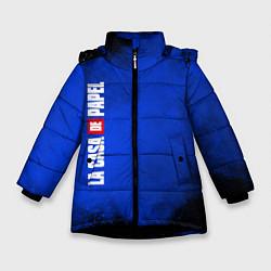 Куртка зимняя для девочки La Casa de Papel Z цвета 3D-черный — фото 1
