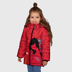 Куртка зимняя для девочки Mulan on Mushu Patten цвета 3D-черный — фото 2