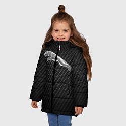 Куртка зимняя для девочки Jaguar Z цвета 3D-черный — фото 2
