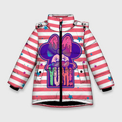 Детская зимняя куртка для девочки с принтом Minnie Mouse YUM!, цвет: 3D-черный, артикул: 10250082506065 — фото 1