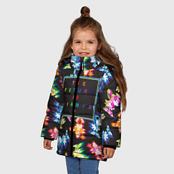 Детская зимняя куртка для девочки с принтом Минни Маус, цвет: 3D-черный, артикул: 10250660706065 — фото 2
