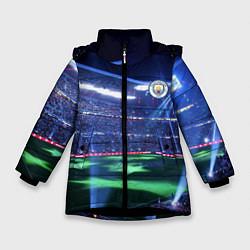 Куртка зимняя для девочки FC MANCHESTER CITY цвета 3D-черный — фото 1