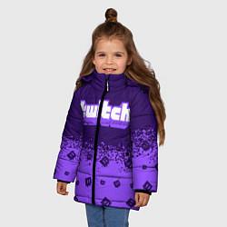 Куртка зимняя для девочки TWITCH ТВИЧ цвета 3D-черный — фото 2