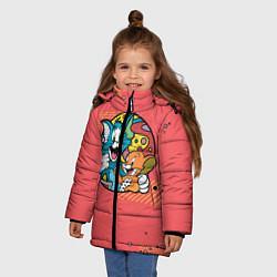 Куртка зимняя для девочки BESTIES FOREVER цвета 3D-черный — фото 2