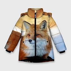 Куртка зимняя для девочки Лиса цвета 3D-черный — фото 1