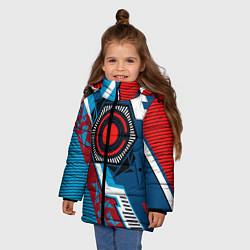 Куртка зимняя для девочки Cyborg logo цвета 3D-черный — фото 2