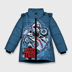 Куртка зимняя для девочки Cyborg цвета 3D-черный — фото 1