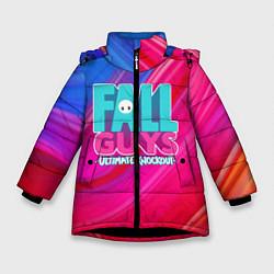 Куртка зимняя для девочки FALL GUYS: Ultimate Knockout цвета 3D-черный — фото 1