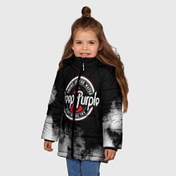 Куртка зимняя для девочки Deep Purple цвета 3D-черный — фото 2