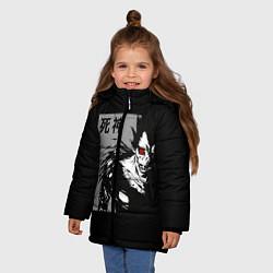 Куртка зимняя для девочки Бог смерти цвета 3D-черный — фото 2