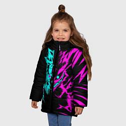 Куртка зимняя для девочки НЕОН НАРУТО цвета 3D-черный — фото 2