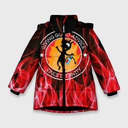 Куртка зимняя для девочки FIRE цвета 3D-черный — фото 1
