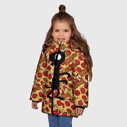 Куртка зимняя для девочки ЛЮЦИ цвета 3D-черный — фото 2