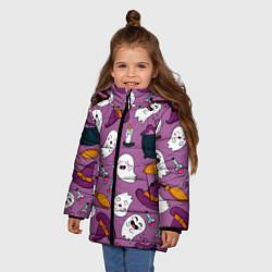 Куртка зимняя для девочки Halloween 2020 цвета 3D-черный — фото 2
