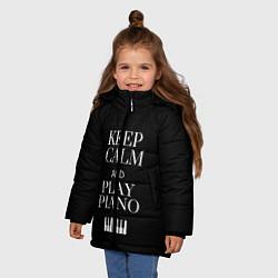 Куртка зимняя для девочки Keep calm and play piano - фото 2