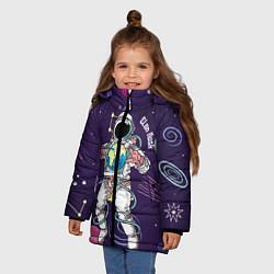 Куртка зимняя для девочки Elon Musk цвета 3D-черный — фото 2