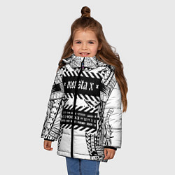 Куртка зимняя для девочки Monsta X цвета 3D-черный — фото 2