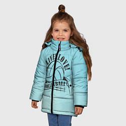 Куртка зимняя для девочки LIVE! LOVE! VOLLEYBALL! цвета 3D-черный — фото 2