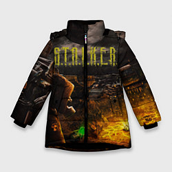 Куртка зимняя для девочки Stalker 2 цвета 3D-черный — фото 1