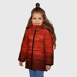 Куртка зимняя для девочки Сакура цвета 3D-черный — фото 2