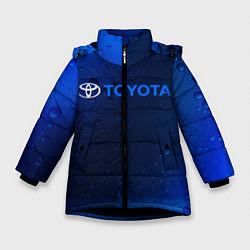 Куртка зимняя для девочки TOYOTA ТОЙОТА цвета 3D-черный — фото 1