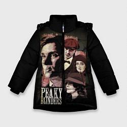 Куртка зимняя для девочки Острые козырьки цвета 3D-черный — фото 1