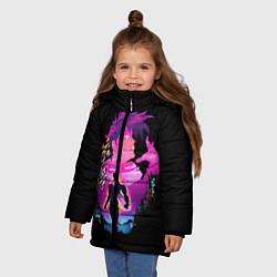 Куртка зимняя для девочки JoJo's Bizarre Adventure цвета 3D-черный — фото 2
