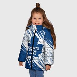 Куртка зимняя для девочки Toronto Maple Leafs, цвета 3D-черный — фото 2