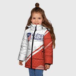 Куртка зимняя для девочки ATLETICO MADRID Атлетико цвета 3D-черный — фото 2