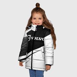 Куртка зимняя для девочки VOLVO Вольво цвета 3D-черный — фото 2