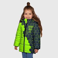Куртка зимняя для девочки JUST DO IT цвета 3D-черный — фото 2