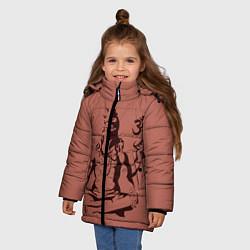 Куртка зимняя для девочки Бог Шива цвета 3D-черный — фото 2