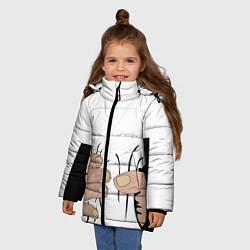 Куртка зимняя для девочки Hand цвета 3D-черный — фото 2