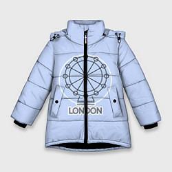 Куртка зимняя для девочки Лондон London Eye цвета 3D-черный — фото 1