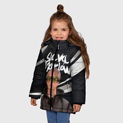 Куртка зимняя для девочки SLAVA MARLOW АРТЁМ ГОТЛИБ цвета 3D-черный — фото 2