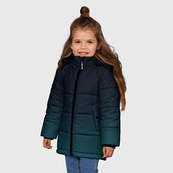 Куртка зимняя для девочки GRADIENT цвета 3D-черный — фото 2