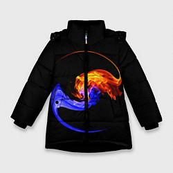 Куртка зимняя для девочки Две стихии цвета 3D-черный — фото 1