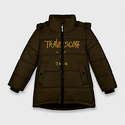 Куртка зимняя для девочки Travis Scott LOGO цвета 3D-черный — фото 1