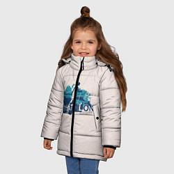 Куртка зимняя для девочки Биатлон цвета 3D-черный — фото 2