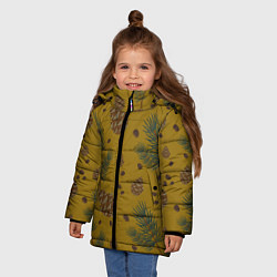 Куртка зимняя для девочки Сибирские шишки цвета 3D-черный — фото 2