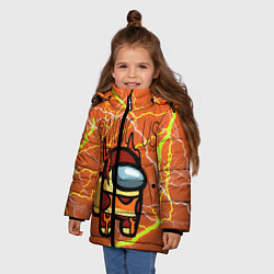 Куртка зимняя для девочки Among Us Lightning Z цвета 3D-черный — фото 2