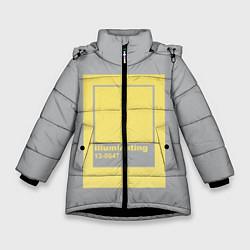 Куртка зимняя для девочки Illuminating 13-0647 цвета 3D-черный — фото 1